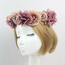 Flower Wreath headband Floral Garland Crown & Ribbon Wedding Featival Party Gift