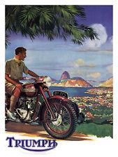 Triumph Motorcycle, Retro metal Aluminium Vintage Sign Wall Plaque