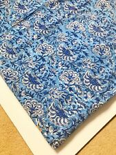 2 Yards Indian Hand Block Print Fabric 100%Cotton Stamped Fabric Dress Material