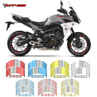 """MOTORCYCLE RIM """"17 STRIPES WHEEL DECALS TAPE STICKERS FOR YAMAHA MT-09 TRACER"""