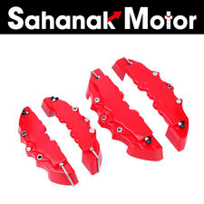 4PCS 3D Red Style ABS Car Universal Disc Brake Caliper Covers Front & Rear Kit