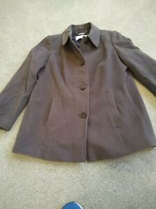 Windsmoor ladies winter jacket Cashmere & Wool Blend size 16 fully lined