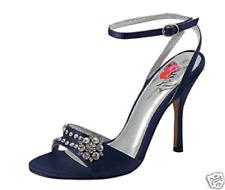 New Women Evening Sandals Black Rhinestones Mitzy Size 7.5