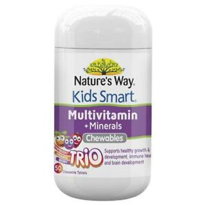 Nature's Way Kids Smart Multivitamin + Mineral - 50 Chewable Tablets - Exp 10/21