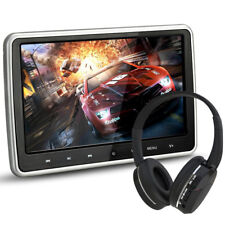 "10.1"" Ultra Thin Portable Digital HD TFT LCD Headrest DVD Player Car Multimedia"