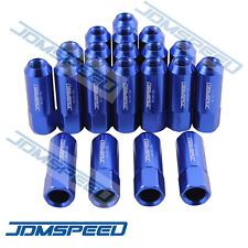 20PC BLUE JDMSPEED 60MM ALUMINUM EXTENDED TUNER LUG NUTS FOR WHEELS/RIMS M12X1.5