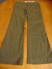 Gap stretch dress pants, gray with pink pinstripes, flare leg, cotton blend, siz
