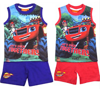 Kids Boys T.shirt+Shorts Set,BLAZE,TURTLE, Characters Sleeveless  2 3 4 5 6 8YRS