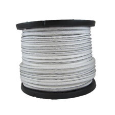 1/4″ 500 ft Bungee Shock Cord White With Black Tracer Marine Grade Heavy Duty