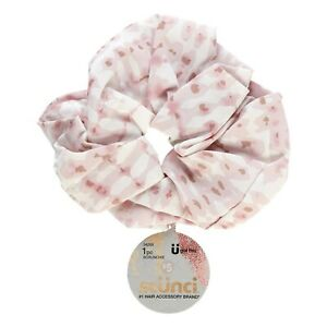 Scunci Jumbo Scrunchie - Pink/White Leopard Print- No Damage Material