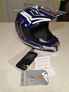 New with Tags THOR QUADRANT Motorcycle Helmet Motocross Blue Size EXTRA SMALL XS