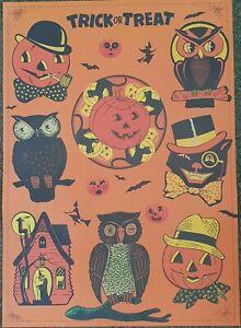 Halloween poster cavallini Italian paper usa import 50x71cm scary fun pumpkin bn
