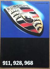 FOLLETO de rango de Porsche-Abril de 1993