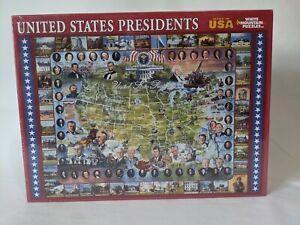2009 White Mountain Puzzle United States Presidents 1000 Pieces New