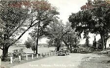 Real Photo Postcard Unposted Road Scene Amery WI Polk County, Cool Old Car