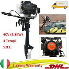 2.8KW Motore fuoribordo 4CV 4 Tempi GOMMONE BARCA Outboard Motor Motori 52CC DHL