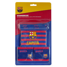 Boys Kids FC Barcelona Captains Armband Wristband & Laces Accessories Set Gift