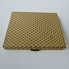 Vintage Love Pat Revlon Rachel Compact Mirror Pale A55 Gold Mesh Shell Design NY