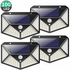 Kilponen Lampe Solaire Extérieur 100 led【4 Pack 2200mAH】éclairage Solaire Ext...