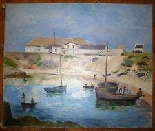 Clairin Pierre-Eugène huile sur toile signée Pont Aven mer marin port Bretagne