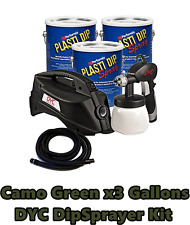3 Gallons Camo Green Performix Plasti Dip Dyc Dipsprayer Gun Bundle Kit Package