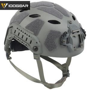 IDOGEAR Tactical Helmet SF Helmet SUPER High Cut FAST Lightweight Version Camo