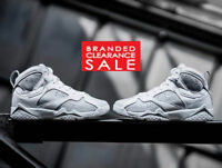 BNIB New Men Nike Air Jordan Retro 7 White Metallic 'Pure Money' SIZE 8 10uk
