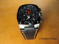 Seiko Sportura Kinetic leather strap notched lug end Cheergiant straps精工錶牛皮手工錶帶