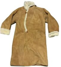 Shearling Men's Coat ARDNEY Size M Tan Suede Lamb Made In USA Medium