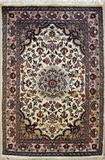 Rugstc 2.5x4 Senneh Pak Persian White Area Rug, Hand-Knotted,Floral with Wool