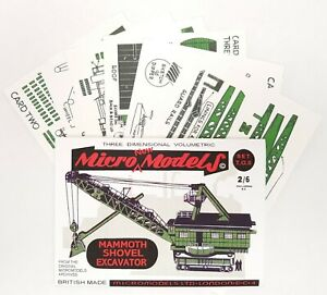 Micromodels Set T.O. II - Mammoth Shovel Excavator - Micro New Models card kit