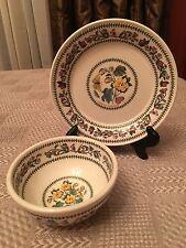 Side Plate & Fruit Salad Bowl Set Portmeirion Variations Barbados Cotton Flowers