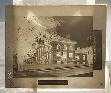 Vintage GLASS NEGATIVE SLIDE Picture of Eau Clare Wisconsin Public Library