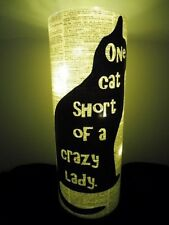 Crazy Cat Lady Lantern No.20, cat lover gifts, cat lover lamp, mood lighting