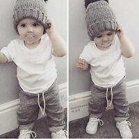 2pcs Newborn Toddler Infant Kids Baby Boy Clothes T-shirt Tops Pants Outfits Set