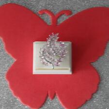Deslumbrante Anillo De Plata Con Rosa Kunzita 6.1 gr. tamaño N1\2 - US 7.0 in (approx. 17.78 cm) Caja De Regalo