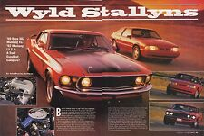 1969 FORD MUSTANG BOSS 302 VS 1992 LX 5.0  ~  GREAT 5-PAGE ARTICLE / AD