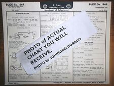 1964 Buick SIX Series 225 Cubic Inch V6 Engine Models AEA Tune Up Chart