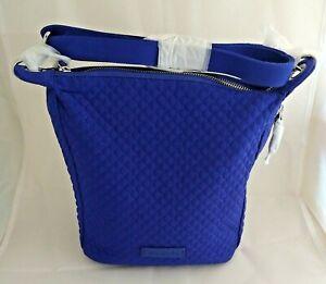 NWT Vera Bradley Carson Mini Hobo Crossbody Bag in Gage Blue Quilted Microfiber
