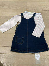 Baby Girl Denim Dress And Top. 6-9 Months. Marks And Spencer.