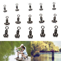 10XBall Bearing Swivel with Solid Ring Fishing Swivel Rolling Connector toolsZJA