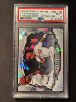 2018 Bowman Chrome Victor Robles Rookie 113/150 Atomic Refractor PSA 9 Nationals