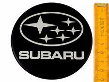 SUBARU ★ 4 Stück ★ SILIKON Ø90mm Aufkleber Emblem Felgenaufkleber Radkappen