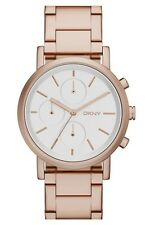 New DKNY NY2275 Chronograph Rose Gold Bracelet Ladies Watch In Original Box