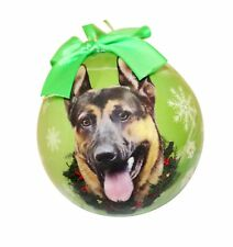 German Shepherd Christmas Ornament Shatter Proof Ball Easy To Personalize A P.