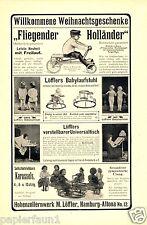 Karussell Löffler Altona Reklame von 1911 Spielzeug Hohenzollernwerk Laufstuhl