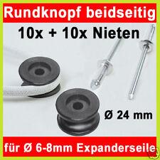 10x Rundknopf beidseitg +10x Blindniet für Expanderseil