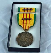 Original Vietnam Service Medal & 4 Bronze Campaign / Battle Stars Gi Issue Box