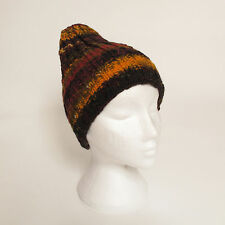 Funky Hand Knitted Winter Woollen Beanie Hat, One Size, UNISEX NB9