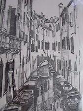 PRINT OF VENICE WATERWAY ARTIST CONRAD 2004
